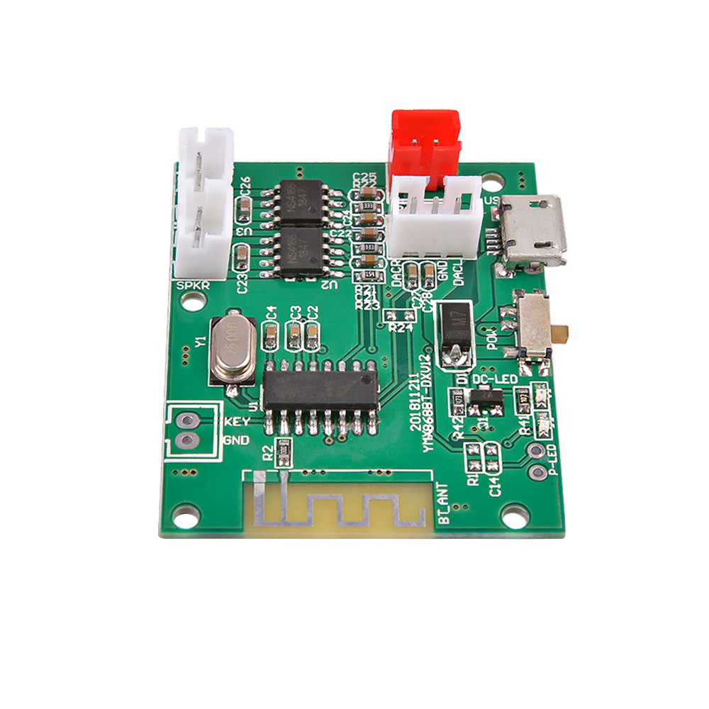 AIYIMA 5W+5W Mini Bluetooth Amplifier Board Bluetooth 5.0 Module Stereo Power Amplifiers Decoder Audio With Charging