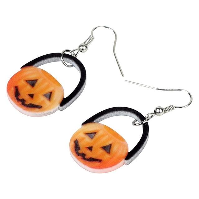 Adorable Pumpkin Earrings 2.5 x 1.9 cm 2