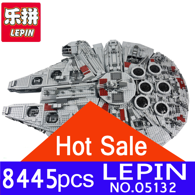 LEPIN 05132 8445pcs Star Series Wars Kits Ultimate Collector's Model Destroyer Building Blocks Bricks Children Toys Gifts 75192 new 5265pcs star wars ultimate collector s millennium falcon model building kits blocks bricks kids toys compatible with 10179