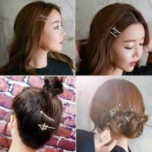 Constellation Barrettes Rhinestone Hair Clips For Women Beautiful Crystal Hairpins Girl Metal Accessories