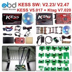 Full Set Ktag 7.020 KESS V2 5.017 V2.47 Red LED BDM Frame ECU Chip Tuning Tool K-TAG V7.020 KESS V5.017 Master Online EU Version
