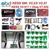 Full Set Ktag 7.020 KESS V2 5.017 V2.47 Red LED BDM Frame ECU Chip Tuning Tool K TAG V7.020 KESS V5.017 Master Online EU Version