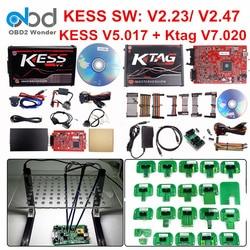 Set completo Ktag 7.020 KESS V2 5.017 V2.47 LED Rosso Telaio BDM ECU Chip Attrezzo di Sintonia K-TAG V7.020 KESS V5.017 master On-Line Versione di UE