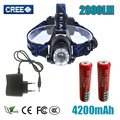 hot sale LED Headlight CREE T6 led headlamp zoom 18650 Head light head lamp 2800lm XM-L T6 18650 Rechargeable zoomable LED light