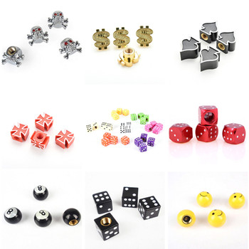 4Pcs/lot Bicycle Tire Valve Caps Dice Ball Star Crown Stem Caps for Car Truck Bike ATV Wheel Rims Bike Accessories image