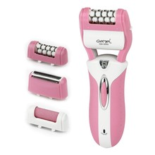2016 new arrival Gemei 3 in 1 multifunctional electric lady body shaver hair removal foot care tools Woman epitator 3pcs head