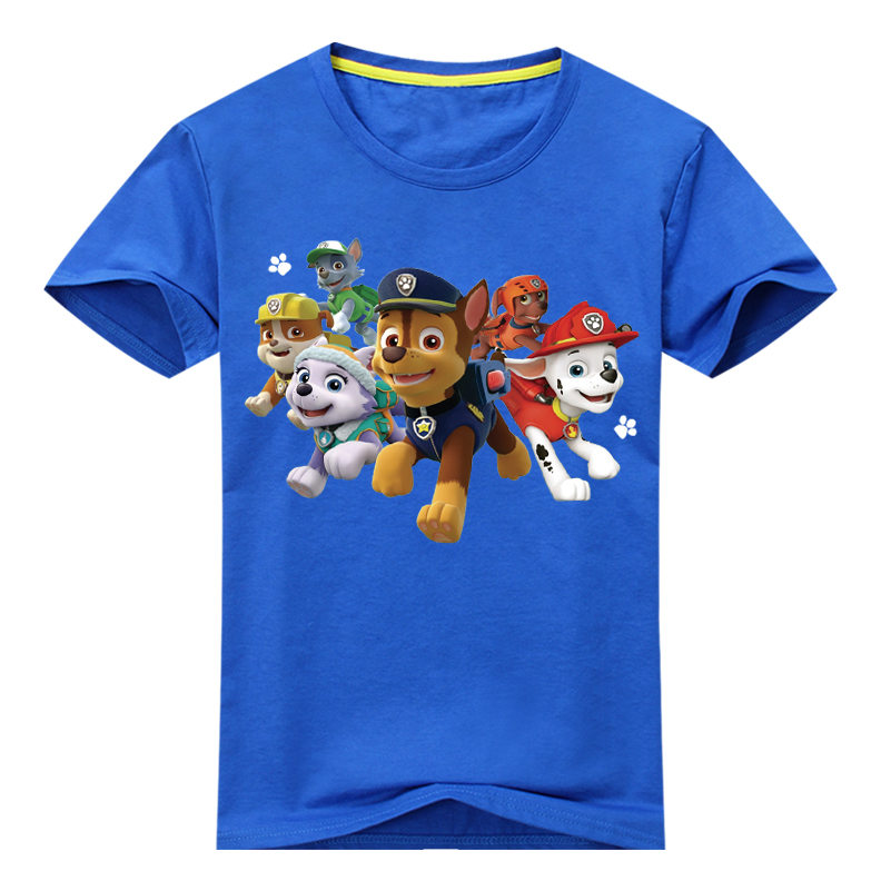 2018 Boy Girls Summer Short Sleeve T-shirts Children 3D Cartoon Dog Printing Tee Tops Clothes For Kids Clothing Costume TP017 2017 summer girls sets clothes short sleeve chiffon baby girls sets for kids big girls t shirts and stripe shorts children suits