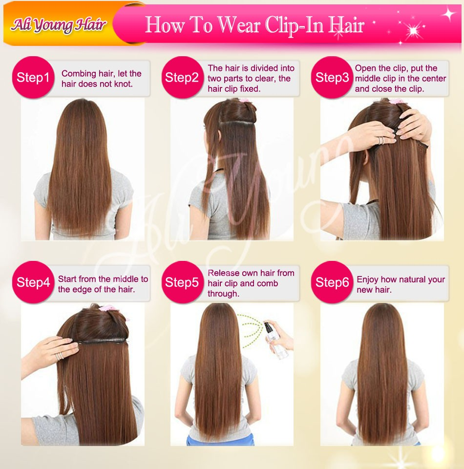 how to wear clip in hair