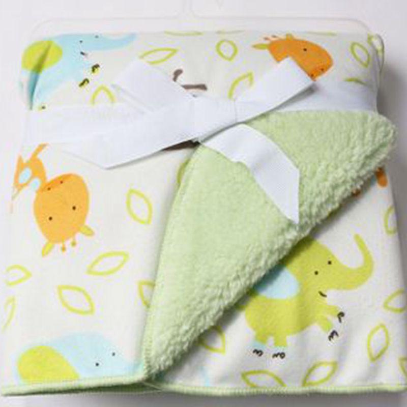 Plush Coral Fleece Baby Blanket Nyfödd Swaddle Wrap Super Mjukt Baby Mottagande Blankett Baby Bedding Baby Carriage Blanket