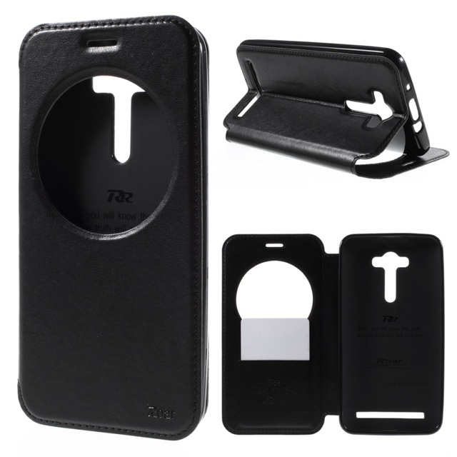 Roar View Window Leather Flip Cover For Asus Zenfone 2 Laser ZE550KL ZE500KL ZB551KL ZC550KL ZE552KL ZS570KL ZC520TL Phone Case