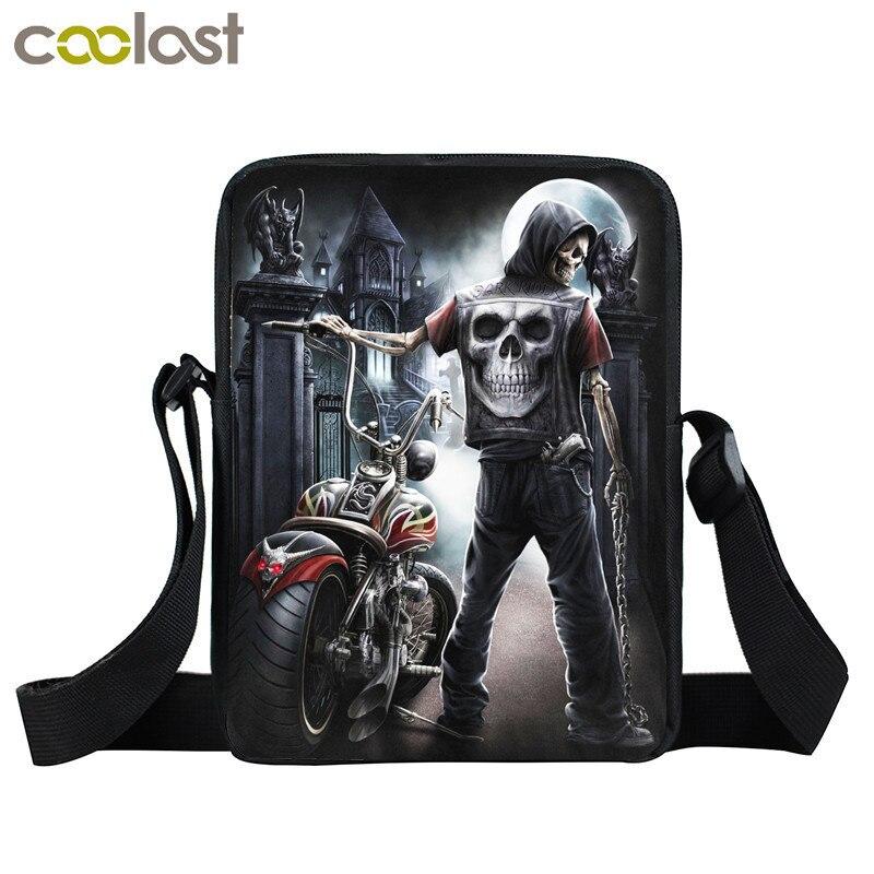 Skull Crossbody Bags for Men Women Handbag Magic Gothic Bag Ladies Clutch Children School Bags dames tassen Boys Shoulder Bags