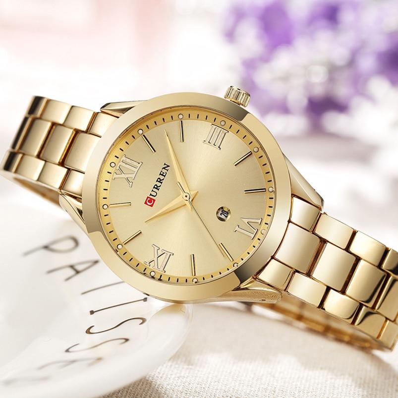 Sieraden Cadeaus voor Dames Luxe Goud Staal Kwarts Horloge Curren - Dameshorloges - Foto 3