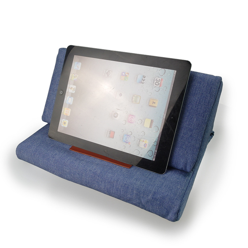 Multi-function colorful Ipad Cushion Tablet PC Cushion Reading Bracket Print Canvas Function Pillow for ipad/iphone full body u pillow