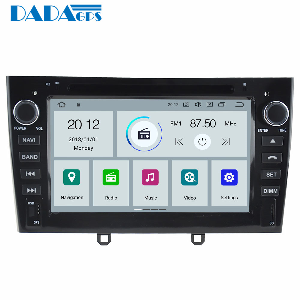 Newest Android 9 0 Car Radio Stereo GPS Head Unit for Peugeot 308 2007 2013 408