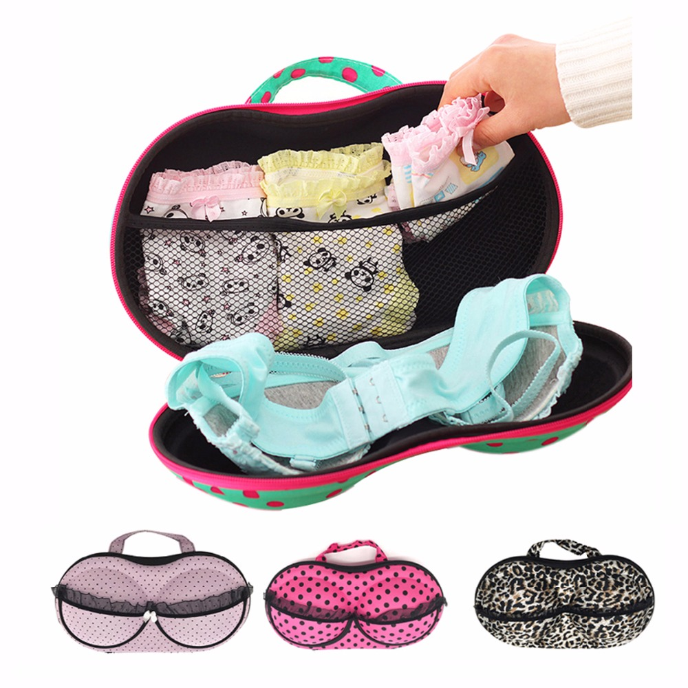 Viagem de malha underwear bra caixa armazenamento lingerie portátil proteger titular casa gaveta organizadores caixas caja rangement boite caixas