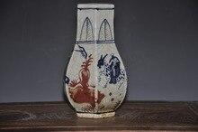Antique reproduction ceramic porcelain red under glazed  crackle vase for collection недорго, оригинальная цена