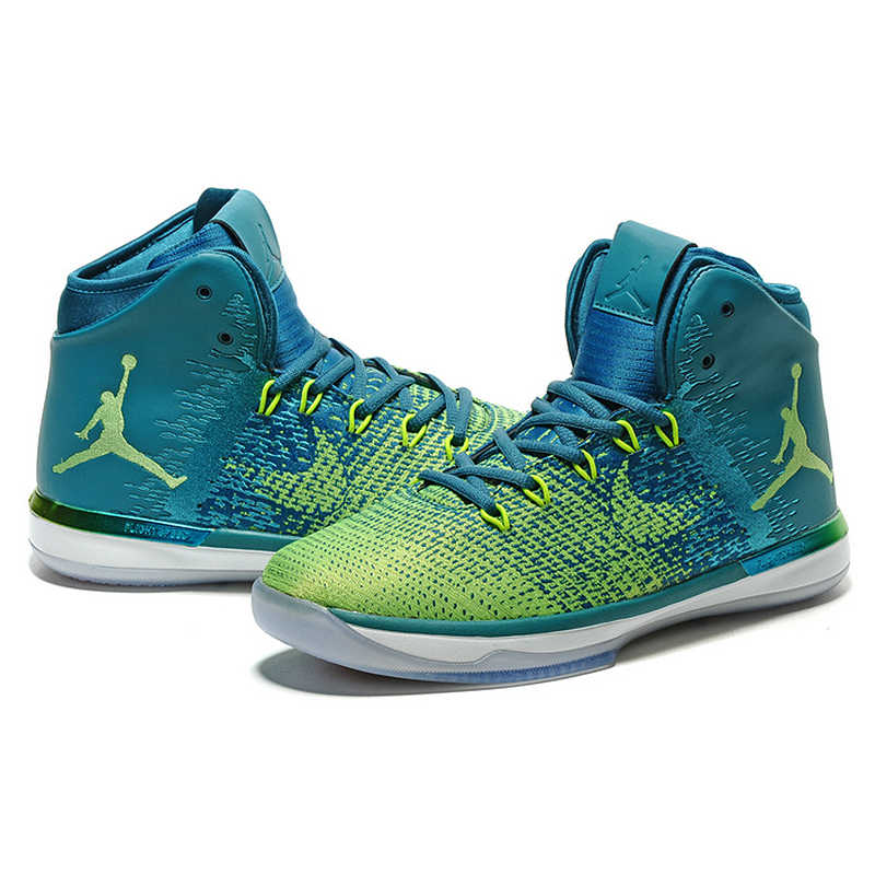 buy online 3baed 83436 ... Original NIKE Air Jordan XXXI AJ31 Men s Basketball Shoes Sports Shoes,  White and Green Brazil ...