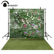 Fotografia allenjoy backdrops ogród Boston bluszcz trawa kwiaty tło fotograficzne fotografia studio funduszy