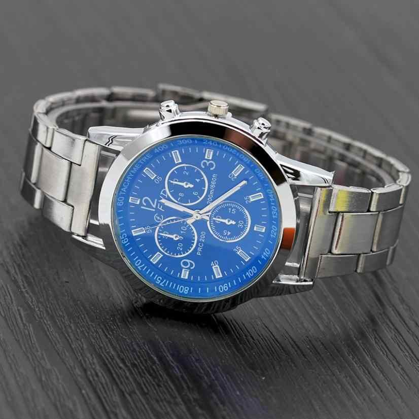 2019 Horloge Mannen Nieuwe Mode Top Merk Datum Luxe Retro Design Business Hoge Kwaliteit Roestvrij Staal Zilver Erkek Kol Saati