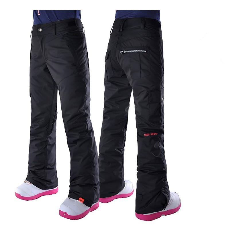 Pantalon de ski noir femme blanc snowboard équitation pantalon de neige plein air coloré pantalon de sport imperméable 10 k respirant