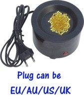 200W adjustale keratin glue beads hot pot/Glue stove with Temperature control+EU,AU,US,UK plug for beauty salon/hair factory use
