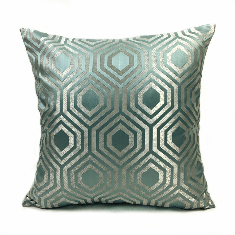 online buy wholesale green brown pillows from china green brown  - contemporary geometric pillows brown light green dark gray jacquard wovendecorative cushion cover square pillow case