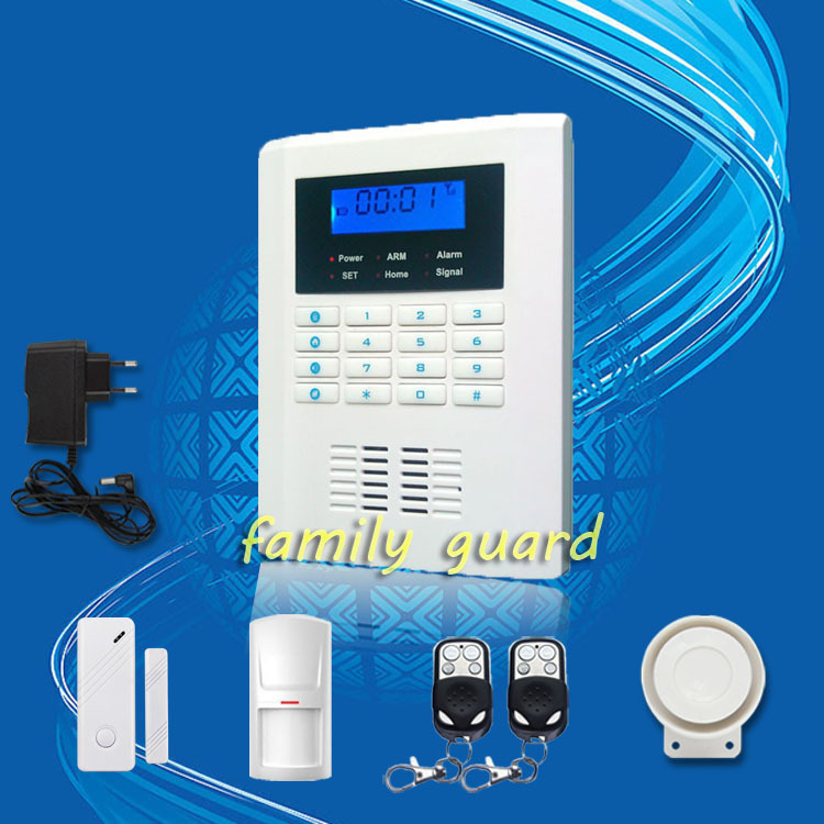 ФОТО Free Shipping!99 wireless zone and 2 wired Quad-Band LCD home security PSTN GSM door sensor alarm system 850/900/1800/1900MHZ