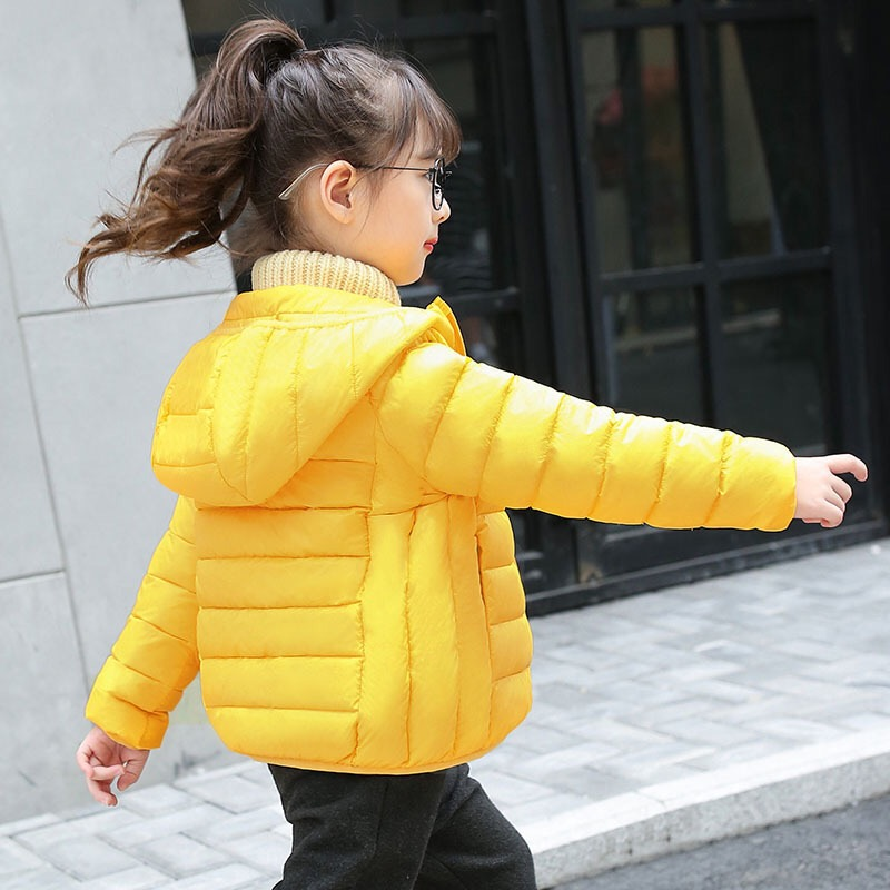 2017 New Girls Down Jacket Light and Thin Kids Winter Jackets Children Warm Coat Baby Outercoat Toddler Soft Coat,3-8Y,#2360