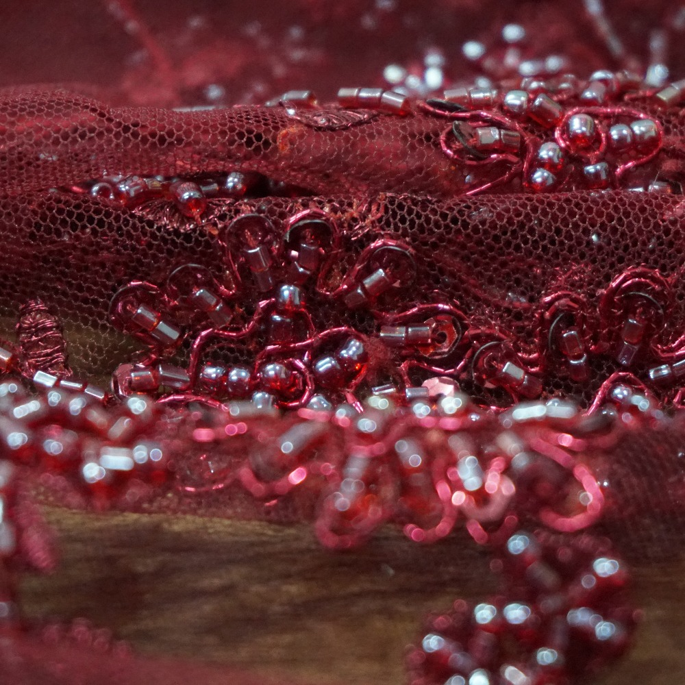 7 Colors navy blue Wine red Burgandy Gold Black Silvery Grey pearls sequins lace fabric tulle embroidered beaded lace 1 yard