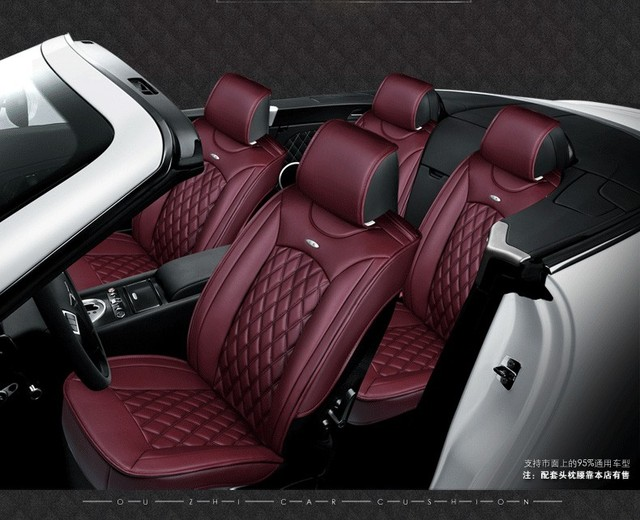 for Renault clio duster black brand coffee luxury soft car leather seat cover front &rear Complete set waterproof car seat cover