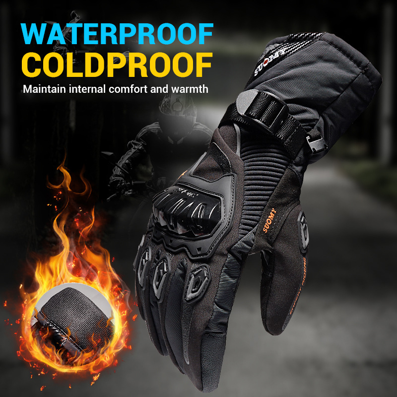 SUOMY Motorcycle Gloves Men 100% Waterproof Windproof Winter Moto Gloves Motorbike Guantes Touch Screen Gant Moto Riding Gloves