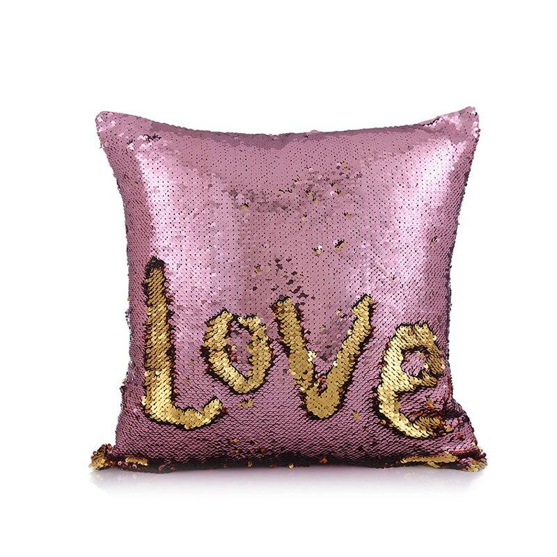 giantex diy two tone glitter sequins square sofa cushion cov