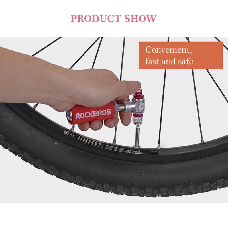 ROCKBROS Mini pompe à vélo CO2 gonfleur de vélo manchon isolé Air cyclisme pompe pour montagne route vélo balle vtt vélo accessoires