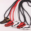 Jordan sapatos moda Hip-pop colar Bead boa madeira colar pingente Jasw121