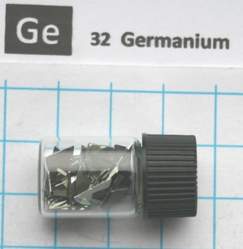 2 gram 99.999% Germanium Metal in glass vial - Pure Element 32 sample виниловые пластинки patti smith live in germany 1979 180 gram