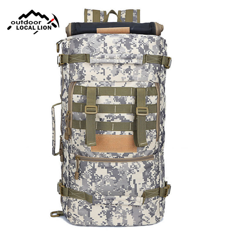 Outdoor Sports Backpack Large Capacity 50L Camouflage Bag Waterproof Nylon Trekking Camping Climbing Tactical Backpack  XA202WD 40l outdoor multifunctional climbing backpack military army tactical molle back pack trekking camping sports travel rucksacks