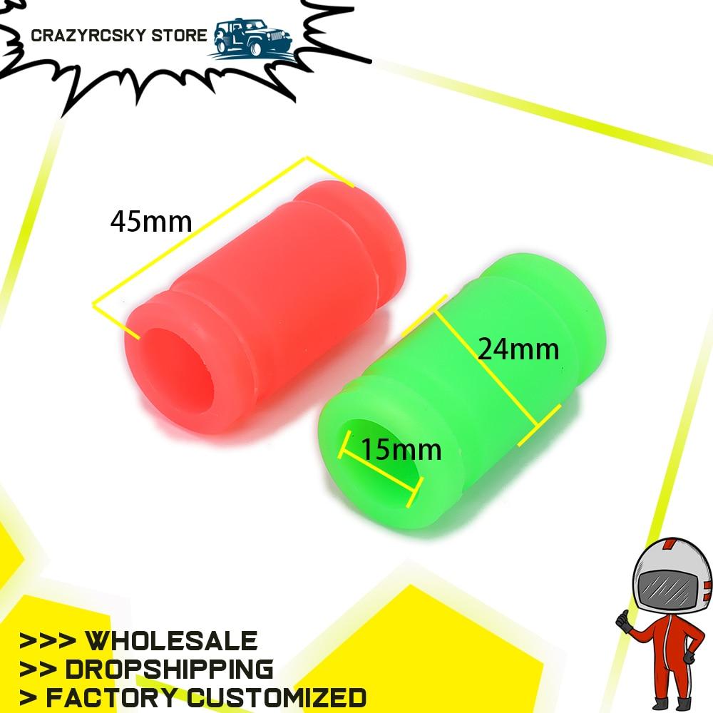 Silicone Joint D/'échappement caoutchouc Adaptateur Tuyau Coupleur Caoutchouc pour 1//10 Nitro voiture