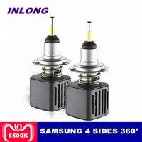 С чипы samsung H4 H7 светодиодный лампы для передних фар H11 H1 9005 9006 D1S D2S 10000LM 6500 K автомобиля светодиодная фара фары Противотуманные фары
