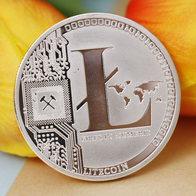 Commemorative Coins Silver Plated 25 LTC Litecoin Vires in Numeris Medallion New