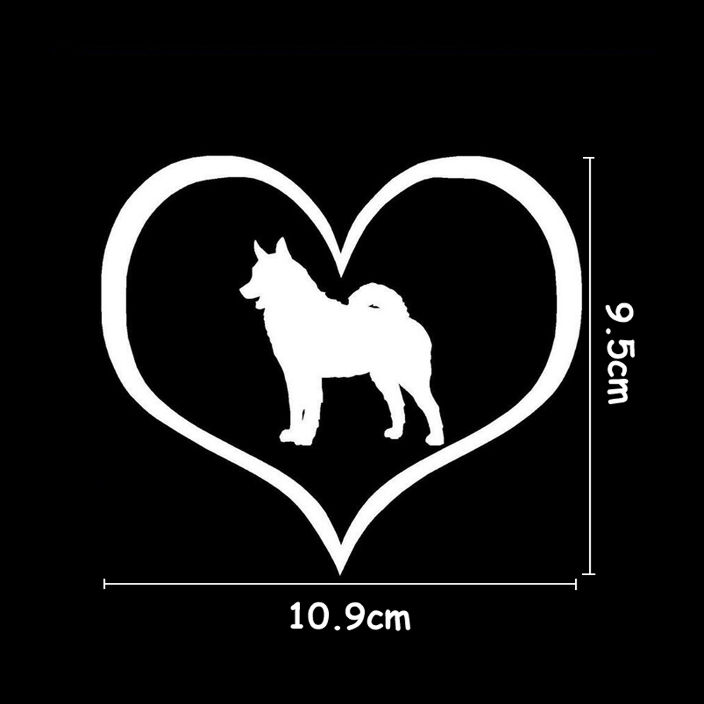 BEMOST Auto Accessories Cartoon Animal Car Cover Scratches Car Decal Norwegian Elkhound Dog Heart Car Stickers Styling