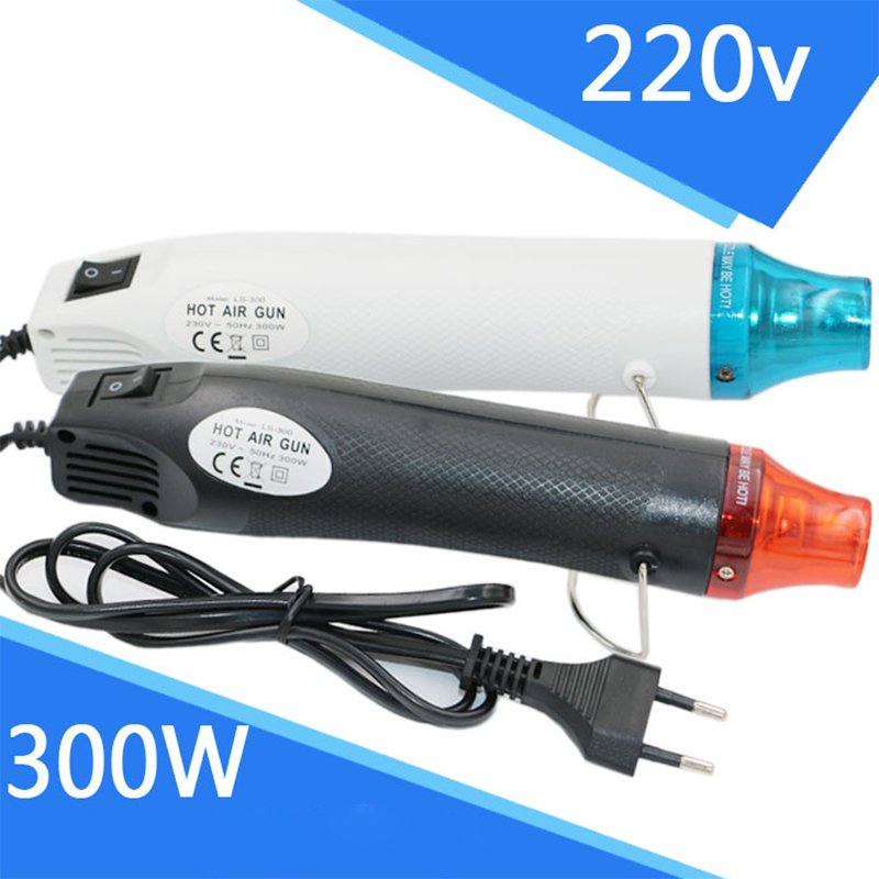 Image 2 - Multicolor 220V Mini Hot Air Gun 300W Max 200 Temperature DIY Use Electric Power Tool Portable Digital Heat Gun With Seat Shrink-in Heat Guns from Tools on