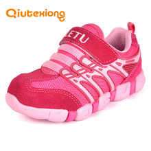 QIUTEXIONG Genuine Leather Children Shoes Girls Sneakers Boys Sport Shoes Kids Casual Shoe Running Sport Sneaker kinderschoenen