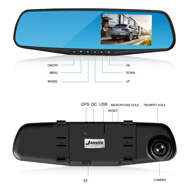 Mirror Car DVR,Camera Full HD 1080P Video