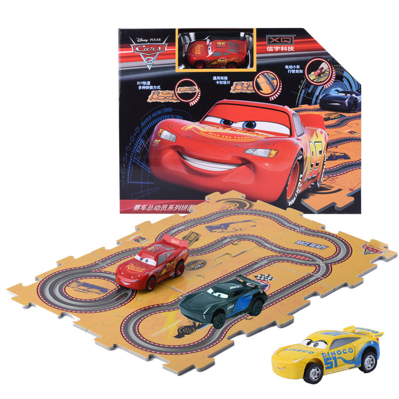 Disney Pixar Cars 3 Slots Car 2018 New Jackson Strom Cruz 1Pc Electric Track Cars Mcqueen Toy For Kids With 10Pcs Tracks DIY