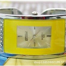 Модные брендовые квадратные Прямоугольные Наручные часы для женщин, кварцевые часы со стразами, женские повседневные часы с браслетом