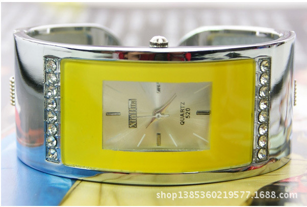 Fashion Brand Square Rectangle Wrist Watches For Women Quartz Rhinestone Full St