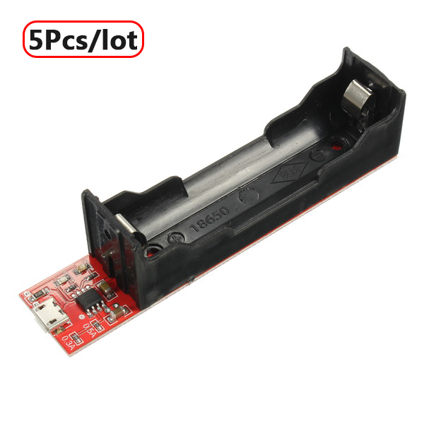 5Pcs/lot 18650 Battery Charging Holder Charging Board TP4056 0.3A / 0.5A / 0.8A with protection board Free Shipping micro 5v 1a usb 18650 lithium battery charging board module protection new sell r179t drop shipping