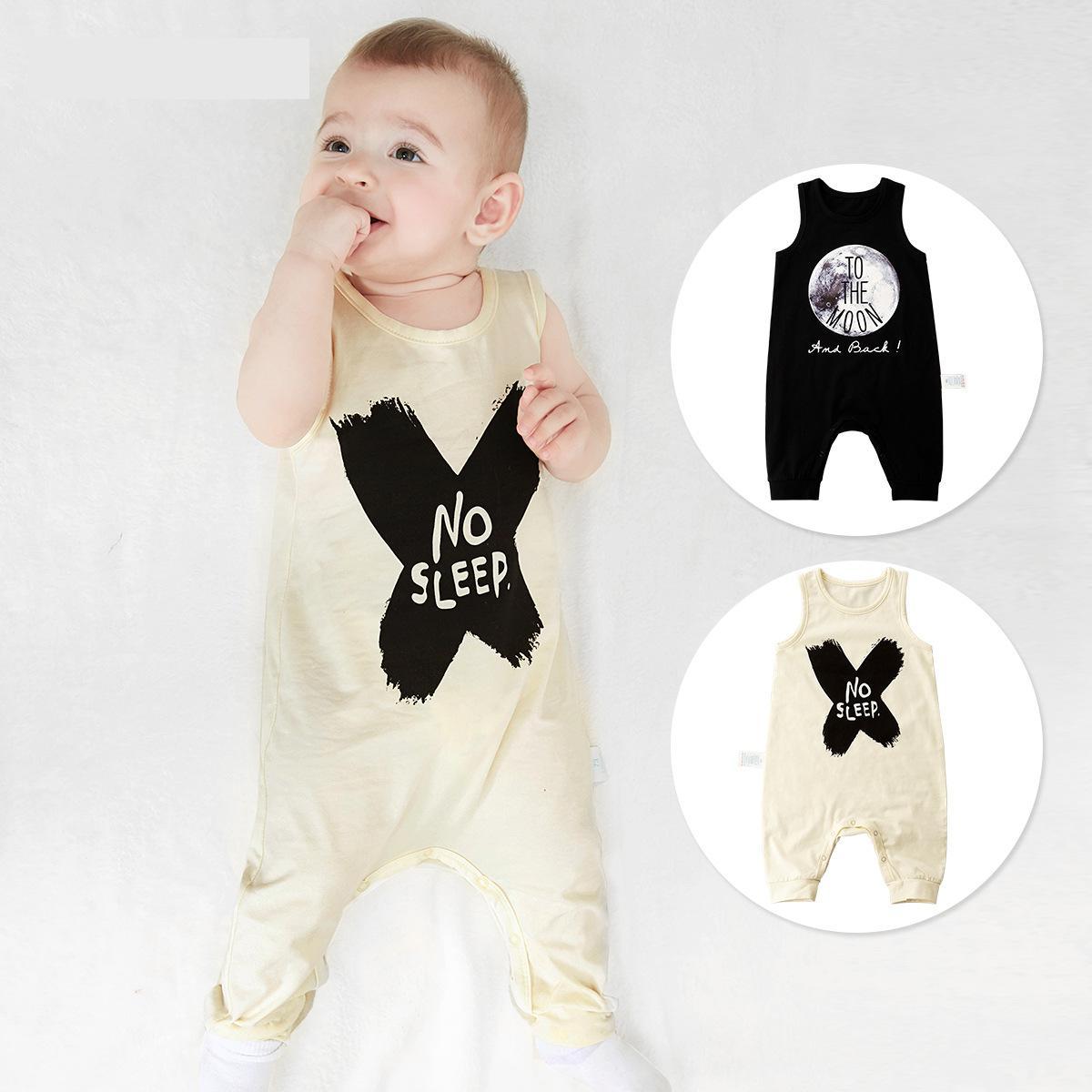 Legal Roupas Recém-nascidos Meninos Bebê Roupas de Bebê Recém-nascidos de Verão Aberto Jumpsuits Colete Bebê Menino Romper Roupa Infantil Criança