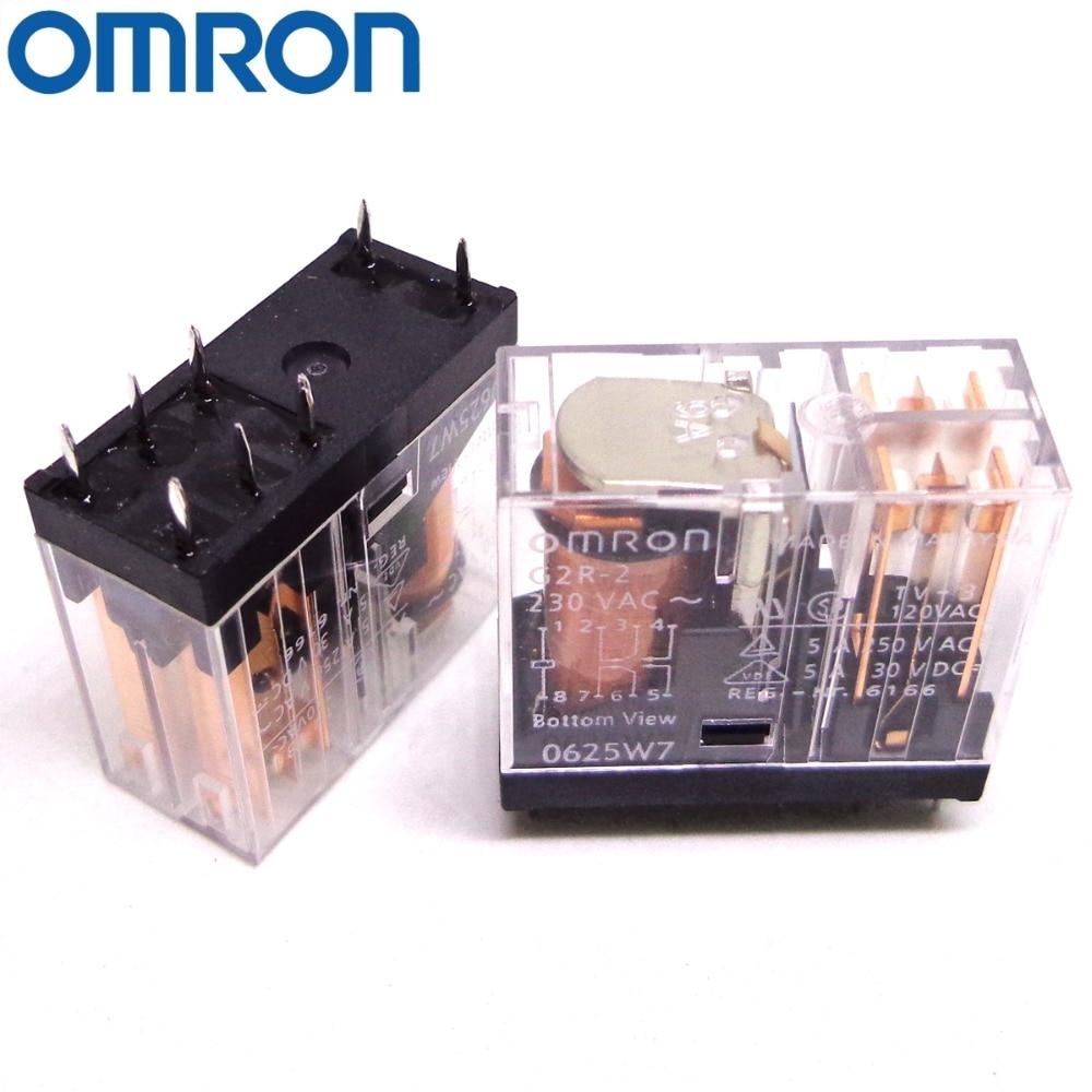 G2R-2 12VDC Relais OMRON 12V DC 5A  DPDT électromagnétique