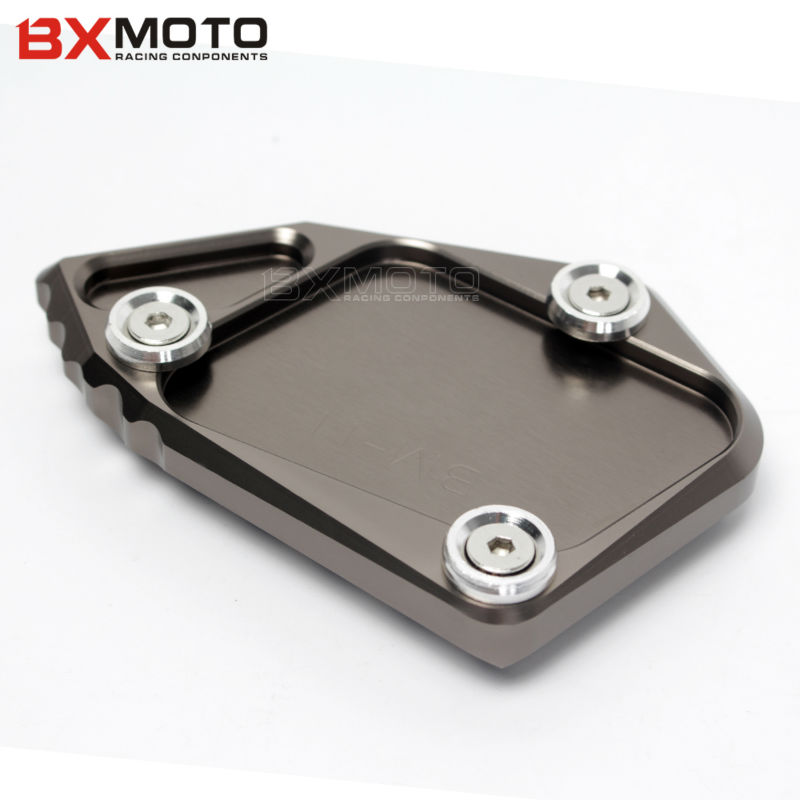 4Colors Motorcycle stand motorbike Kickstand Aluminum Side Stand Plate Enlarge For BMW R1200 GS 2012 R1200 ADV 2008 2012-in Covers u0026 Ornamental Mouldings ...  sc 1 st  AliExpress.com & 4Colors Motorcycle stand motorbike Kickstand Aluminum Side Stand ...